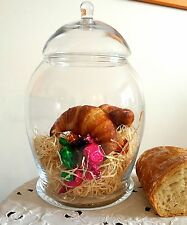 Handmade Clear | Transparent Glass Storage Bonbon Jar 29 cm high | Candy Bowl
