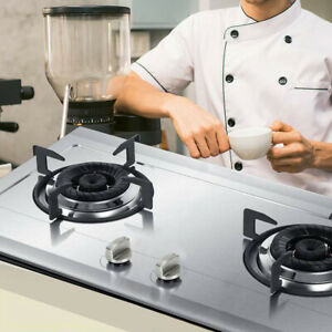 Universal Metal Gas Stove Knobs Cooker Oven Hob Kitchen Switch Control Metal 6Pc