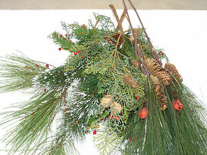 NEW Christmas pick 7pc Big Mix Lot Pine bulk wholesale lot floral Crafts FLOWERS