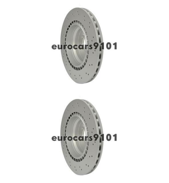 Pair Set of 2 Rear Hella Pagid Vent Brake Disc Rotor 300 for BMW E90 E92 F22 F30