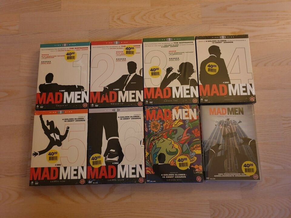 Mad Men (Komplet), DVD, TV-serier