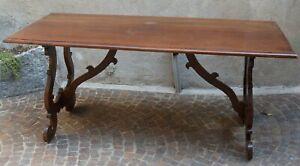 Tavolo Legno Cucina Antico.Dettagli Su Antico Tavolo Fratino A Lira Legno Noce Epoca 800 Cucina Sala Taverna Old Table