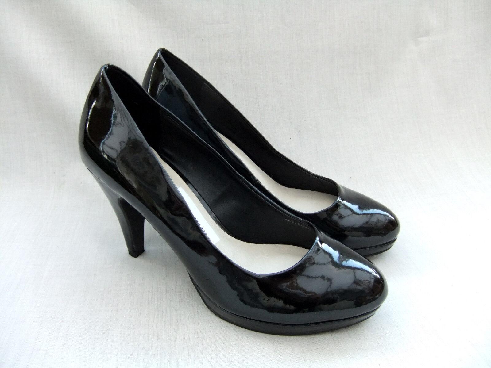 NEW CLARKS ANITA femmes noir PATENT PLATFORM chaussures