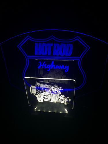 Hot Rod Highway, Hot Rod, LED Lámpara De Escritorio Bar