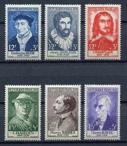 21640-FRANCE-1956-MNH-Nuovi-6v-034-Famous-People-034