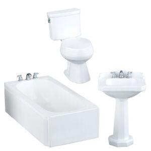 Set Tub Sink : ... -Miniatures-1-12-Scale-3PC-Resin-Bathroom-Set-Toilet-Tub-Sink-HW4015