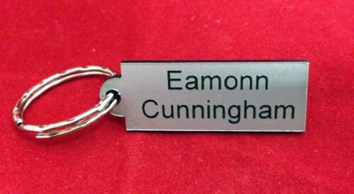set of 4 Book PE Bag QUALITY ENGRAVED MINI NAME TAGS School Bags Lunch Box