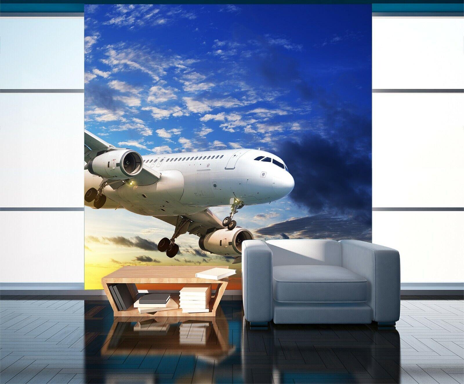 3D Sky Flugzeuge O159 Auto Tapete Wandbild Selbstklebend Abnehmbare Angelia