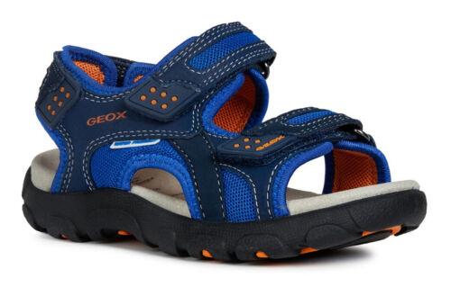 Geox J S Strada B Boys Navy//Orange Sandals 100/% Positive Reviews