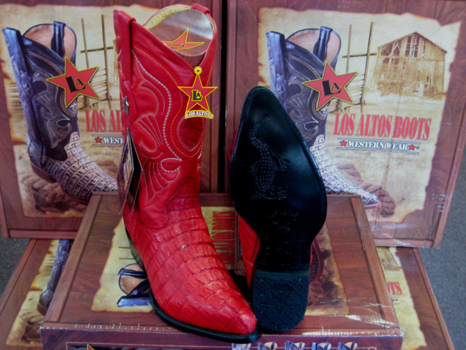 Los altos Mujeres Rojo Original Bota de vaquero occidental de cola de cocodrilo (M) L091121
