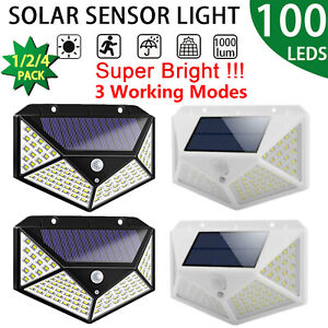 100-Led-Solar-Sensor-De-Movimiento-Luz-De-Pared-Lampara-de-seguridad-de-jardin-exterior-impermeable