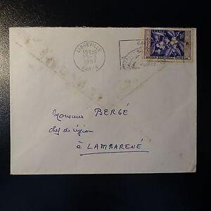 Gutherzig Gabun Aef Brief Cover 1957 Libreville FÜr Das Gruppenleiter Region Ein LambarÉnÉ Briefmarken