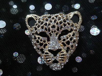 Gold Alloy Leopard DIY Flat Back Rhinestone Cabochon 3D Phone Decoration