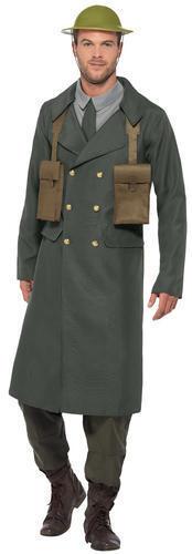WW2 officier britannique robe fantaisie homme uniforme militaire adultes 1940 S Costume Chapeau