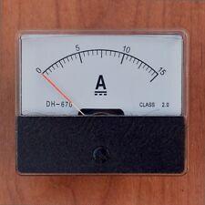 0 - 15A DC AMPEROMETRO Amp Panel Meter Analogico Analogico con interno CORRENTE SHUNT