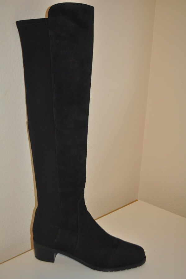 STUART WEITZMAN Black Suede RESERVE OVER THE KNEE TALL BOOTS BOOTS BOOTS Sz 7.5 M 90db49