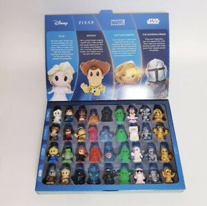 Woolworths Disney Plus Ooshies Complete Full Set of 36 With Collectors Case 2020