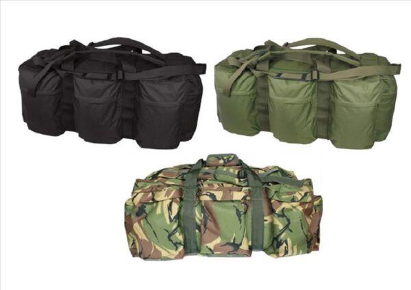 100l Assault Holdall Implementación Tácticos Ejército Mochila Bolsa De Viaje De Almacenamiento De Información-ver FabricacióN HáBil