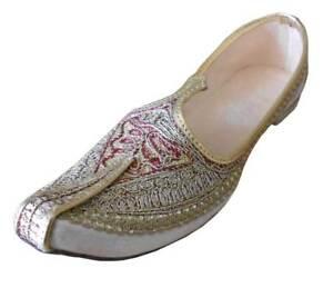 Men Shoes Punjabi Jutti Khussa Wedding Flip-Flops Indian Flat