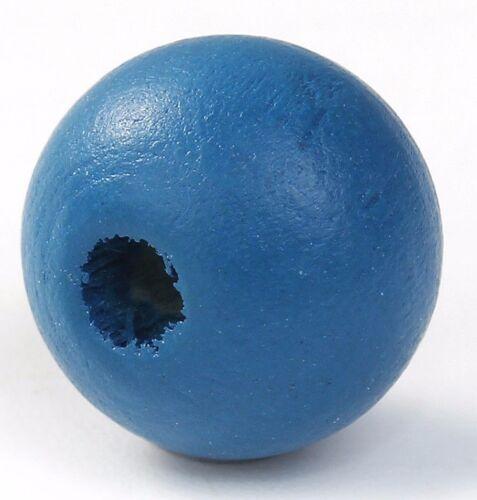 200 unidades cipreses madera redonda de perlas malachitblau agujero 3mm bricolaje DIY D 10mm