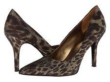 Nine West Flax Bronze Gold Animal Classics Heal Pointy Toe Pump Shoes 6.5 M USA