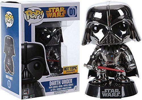 POP FUNKO   Exclusive Star Wars Darth Vader Chrome Metallic - Vinyl Figure   01