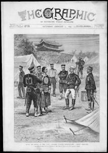 1895-Antique-Print-JAPAN-Battle-Ping-Yang-Officers-Chinese-Prisoners-67
