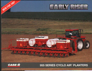 Case Ih Early Riser 955 Series Cyclo Air Planter Brochure Leaflet