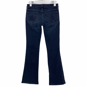 7 For All Mankind A Pocket Flare Leg Dark Blue Wash Stretch Jeans Size 26 x 30