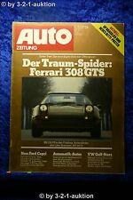 Auto Zeitung 4/78 Ferrari 308 GTS VW Polo Mini 1000  + Betti Poster (Fiat 131)