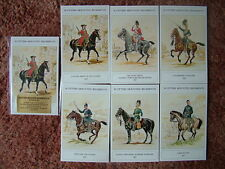 THE BRITISH ARMY SERIES - SCOTTISH MOUNTED REGIMENTS (2).  6 card set. Mint