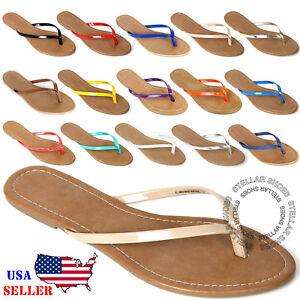 ad120821e NEW Womens Summer Comfort Casual Thong Flat Flip Flops Sandals ...