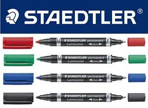 Staedtler-Twin-Tip-Permanent-Marker-Pen-Lumocolor-Duo-Fine-amp-Med-Tip-0-6-1-5mm