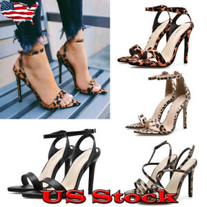 Womens-Stiletto-High-Heels-Peep-Toe-Ankle-Strappy-Sandals-Summer-Slingback-Shoes