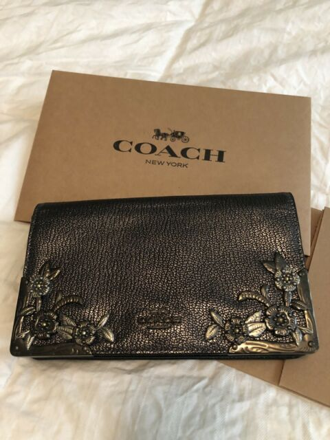Lyst - COACH Callie Foldover Chain Clutch With Rivets