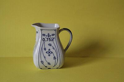 Indisch Blau Strohblumen Winterling Schwarzenbach Porzellan Kanne 1,2 Liter