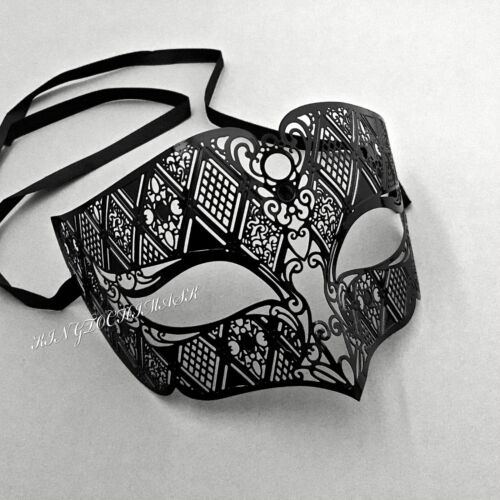 Venetian Masquerade Filigree Metal Luxury Theater Evening Party Eye Mask