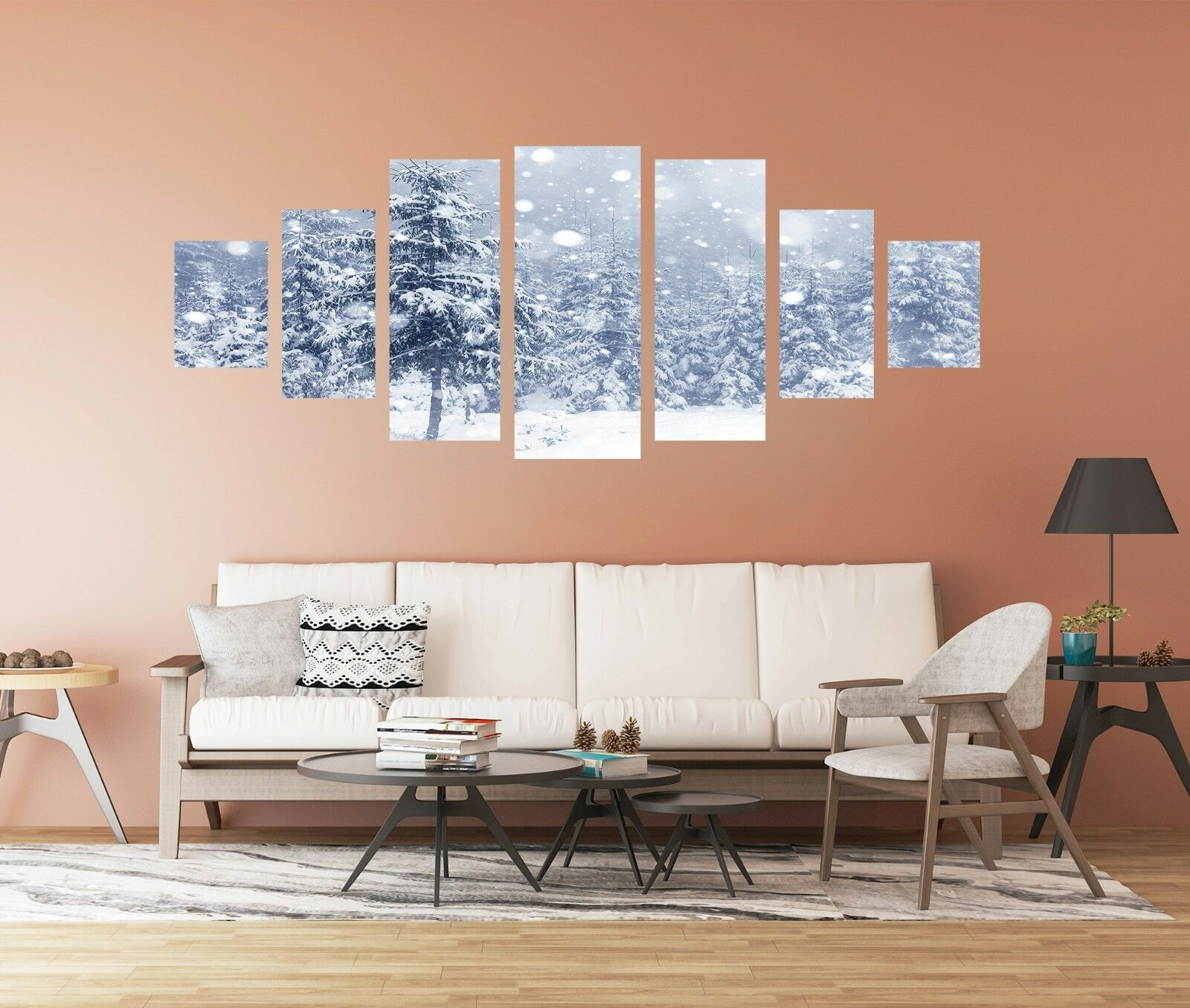 3D Snowing Road 72 Unframed Print Wall Paper Decal Wall Deco Indoor AJ Jenny