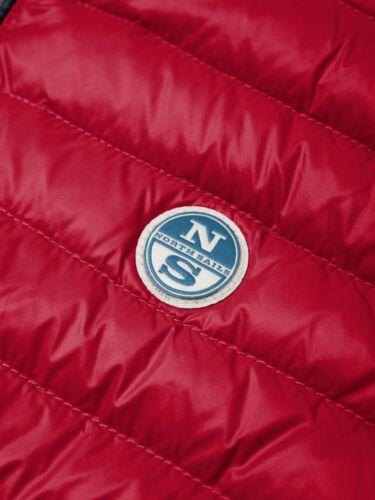 Gilet smanicato da uomo rosso blu North Sails Frank West piuma casual zip tasche