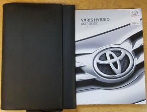 Genuine Toyota Yaris Hybrid Owners Manual Handbook Wallet 2014 2019 Pack Ebay