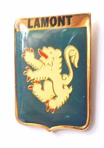 Lamont Clan Scotland Scottish Family Name Crest Pin Badge