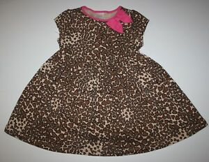 NEW-Gymboree-Outlet-Tan-Brown-Heart-Print-Print-Short-Sleeve-Dress-NWT-3T-4T-5T