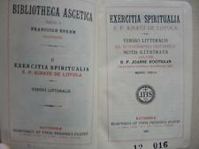 Gebetbuch / Messbuch EXERCITIA SPIRITUALIA , S. Ignatius Loyola  1923   (#A2#)