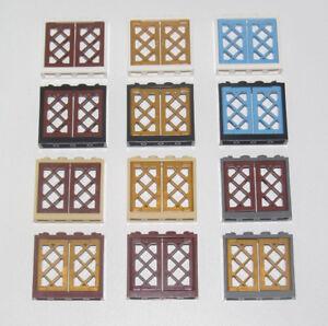 Lego-Fenetre-Maison-Chateau-Navire-Windows-1x4x3-Choose-Color-60594-60607