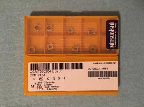 MITSUBISHI CCMT21.51 CCMT060204 US735  Carbide Inserts10 PCS