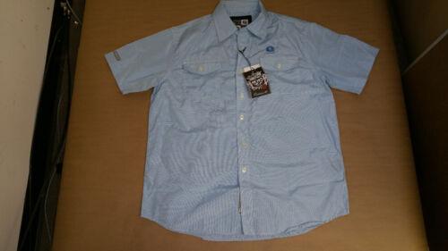 Akademiks Men/'s Casual Button Up Check Shirts Blue Grey Size M-2XL