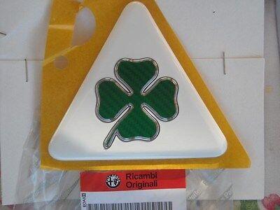 Fregio stemma ALFA ROMEO QUADRIFOGLIO VERDE rear green cloverleaf badge logo