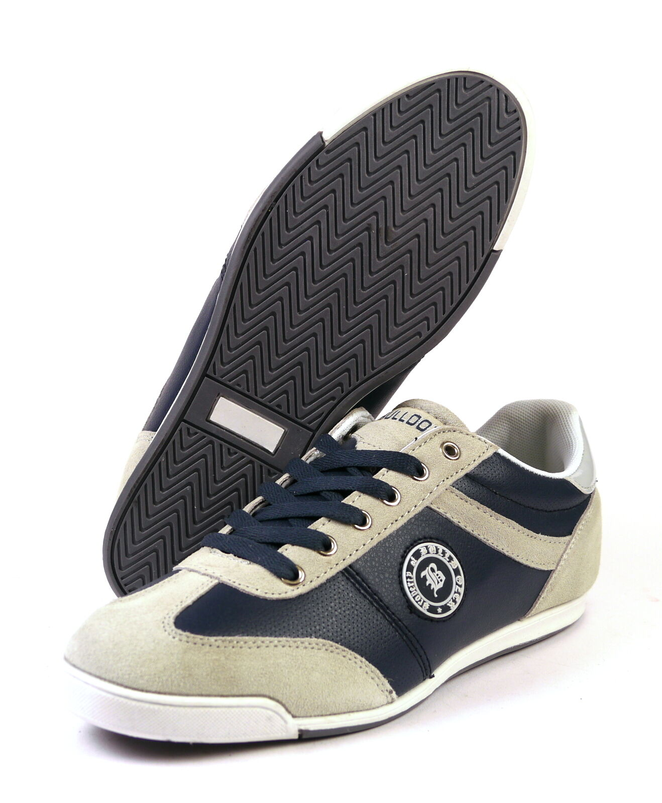 Bulldozer 6063 shoes Leather Men's Size 41 - 45 bluee NEW