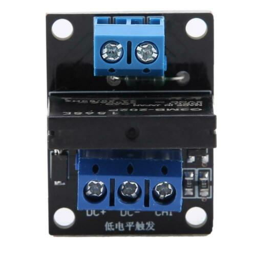 DC 5V//12V 1 Channel Solid State Relay Module Board High /& Low Level Trigger 2A