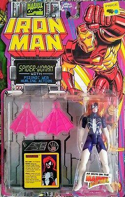 Toy Biz 1994 SPIDER-WOMAN figure IRON-MAN Series Marvel COMICS Universe NEW NIB